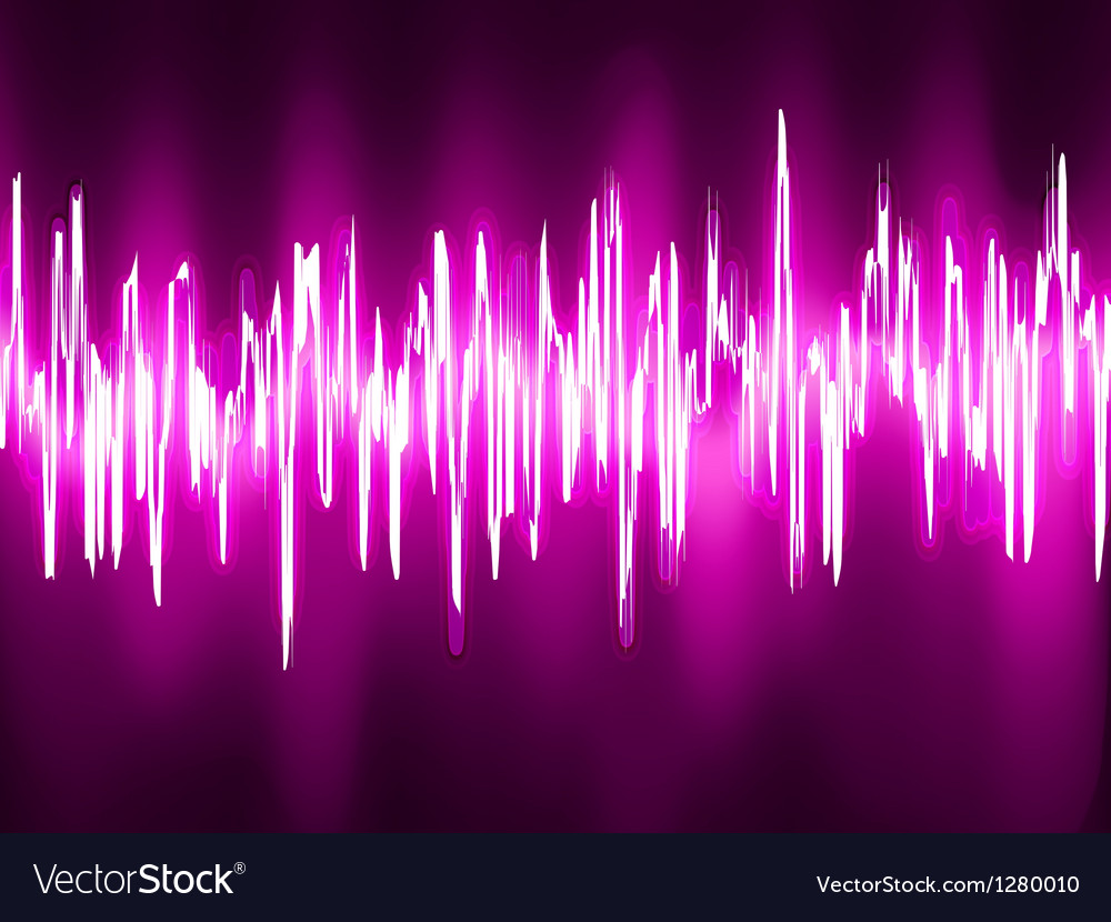 Sound waves oscillating glow light eps 8 vector | Price: 1 Credit (USD $1)