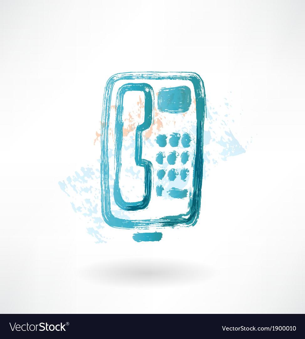Telephone with buttons grunge icon vector | Price: 1 Credit (USD $1)