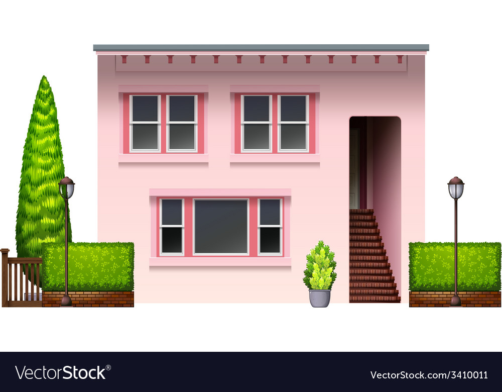 A pink office building vector | Price: 3 Credit (USD $3)