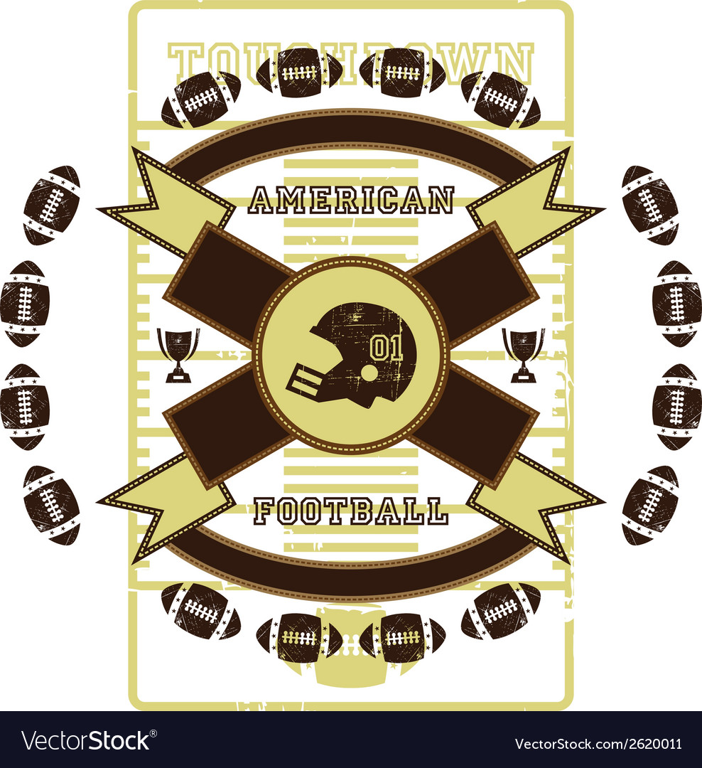 American football design elements vector | Price: 1 Credit (USD $1)