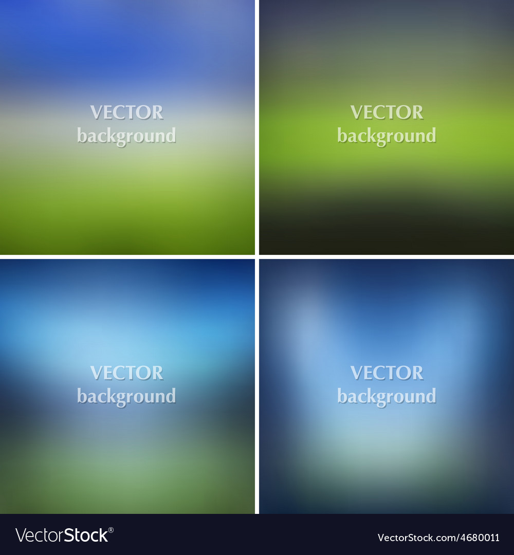 Blurred soccer football stadiums backgrounds set vector | Price: 1 Credit (USD $1)