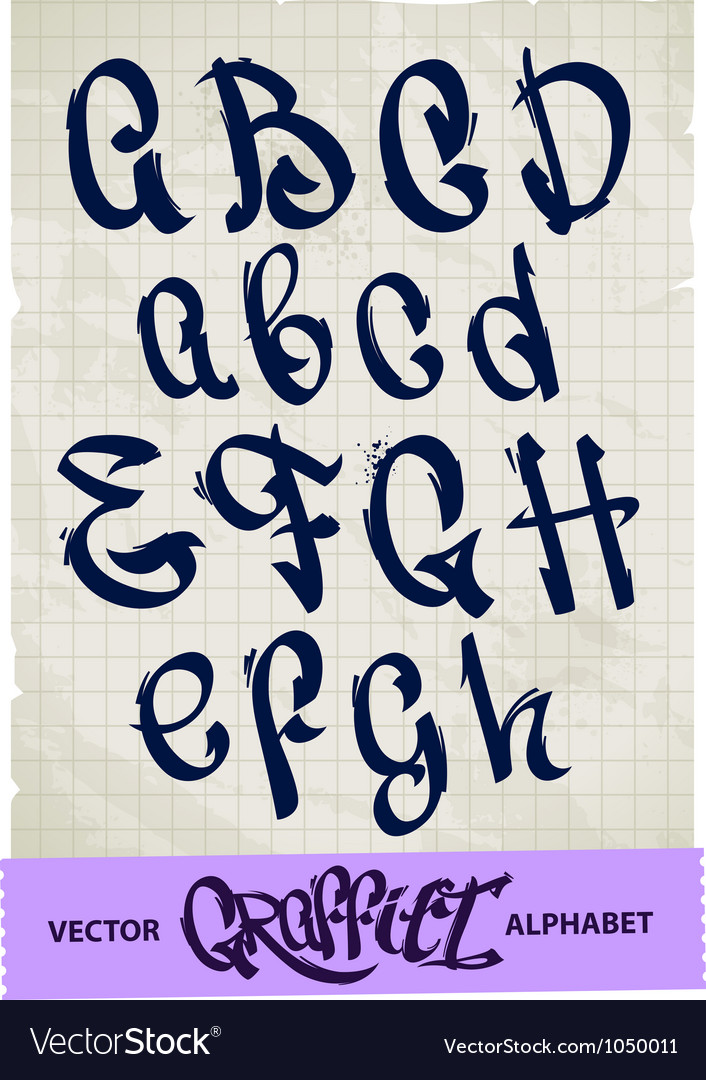Graffiti alphabet vector | Price: 1 Credit (USD $1)