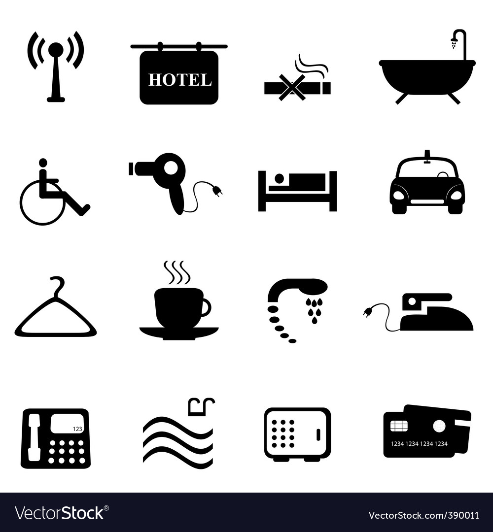 Hotel icons vector | Price: 1 Credit (USD $1)