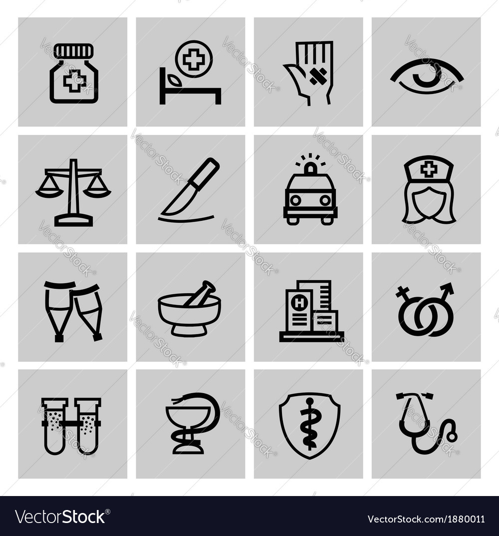 Medicine  heath care icons vector | Price: 1 Credit (USD $1)