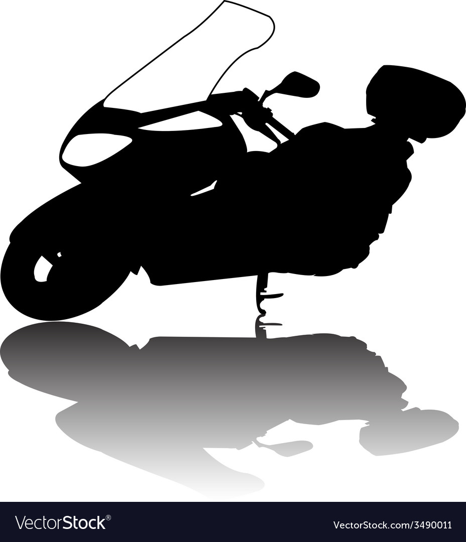 Motorcycle silhouette vector | Price: 1 Credit (USD $1)