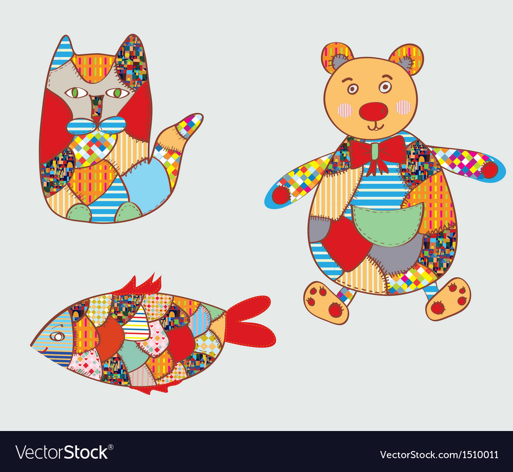 Patchwork toys vector | Price: 1 Credit (USD $1)