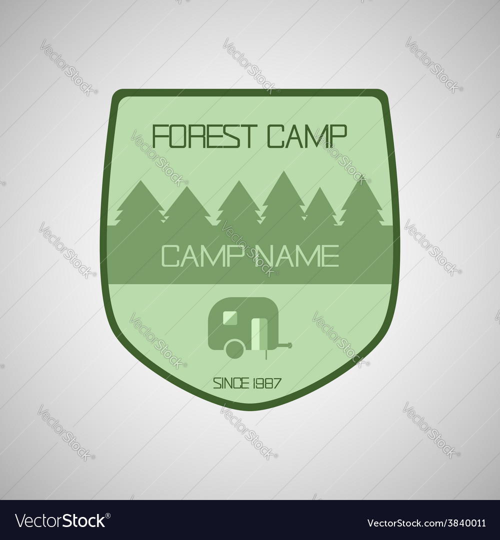 Retro badge and label logo graphic camp badge and vector | Price: 1 Credit (USD $1)