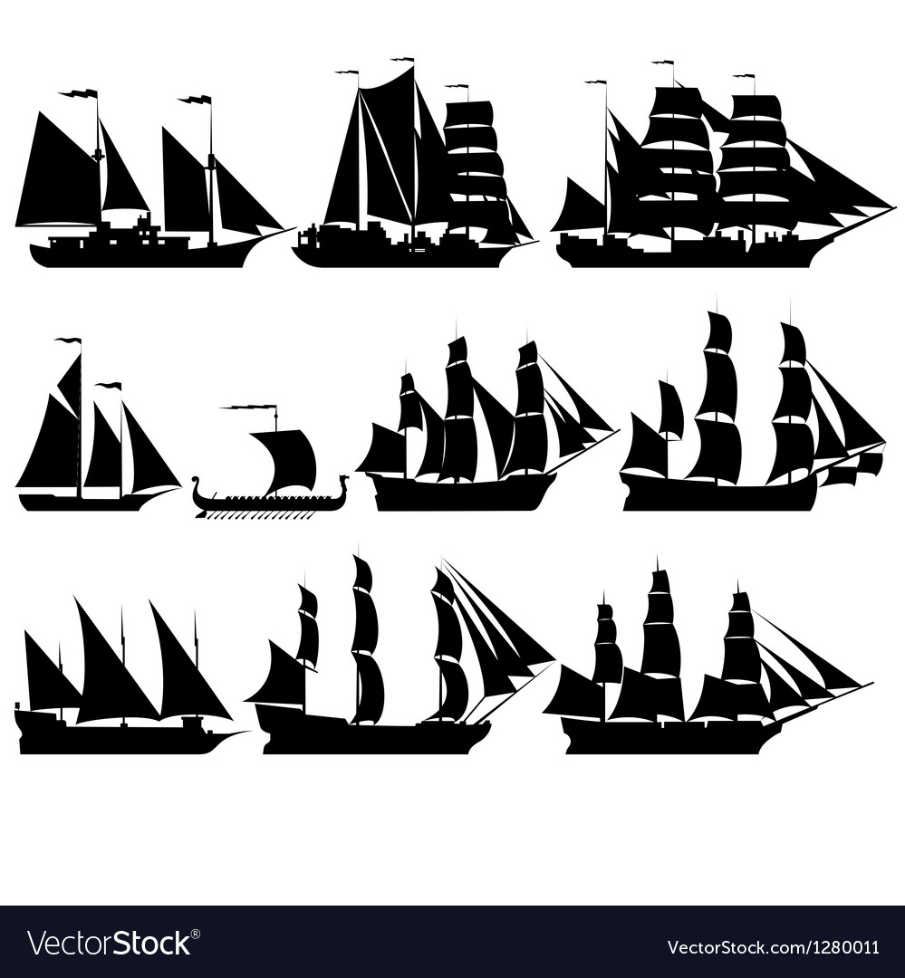 Sailing ships 2 vector | Price: 1 Credit (USD $1)