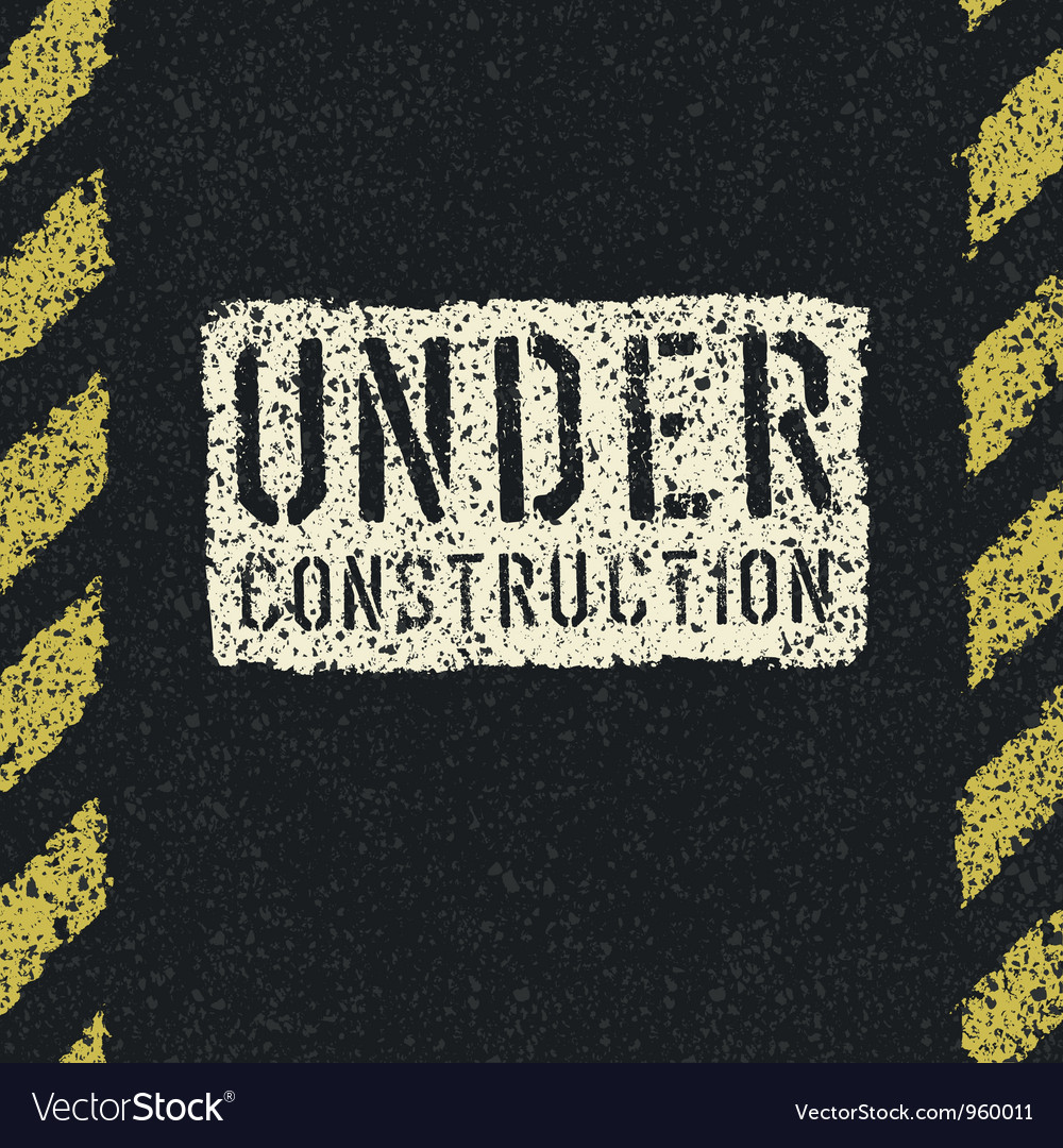 Under construction sign background vector | Price: 1 Credit (USD $1)