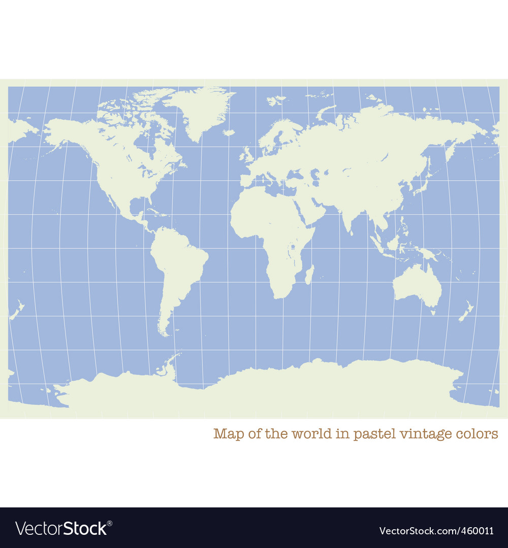 World map pastel color vector | Price: 1 Credit (USD $1)