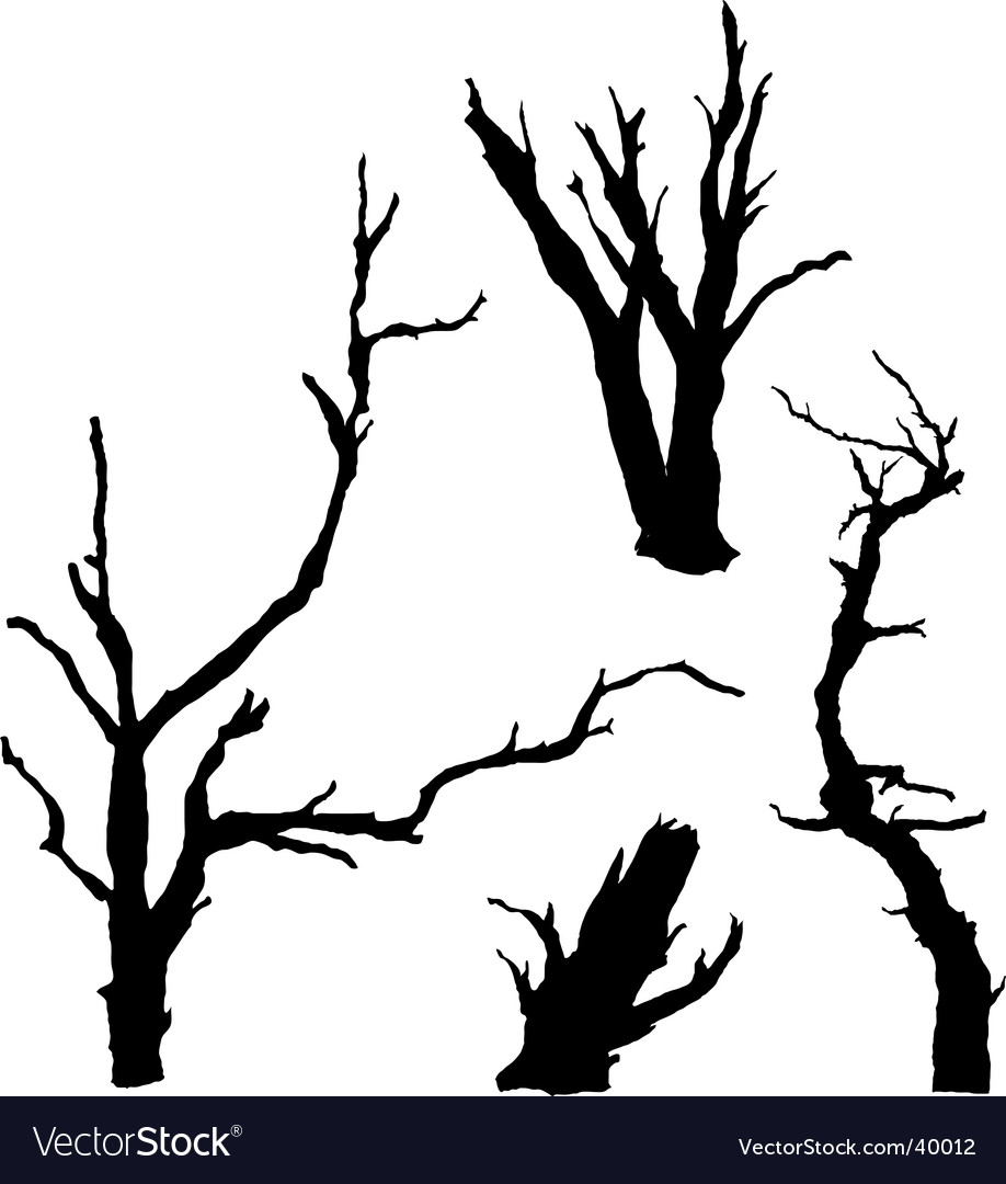 Dead trees vector | Price: 1 Credit (USD $1)