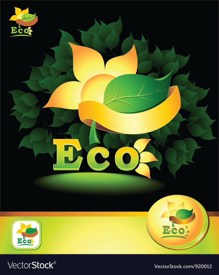 Eco concept vector | Price: 3 Credit (USD $3)