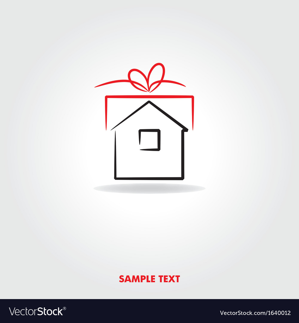 Gift house icon vector | Price: 1 Credit (USD $1)