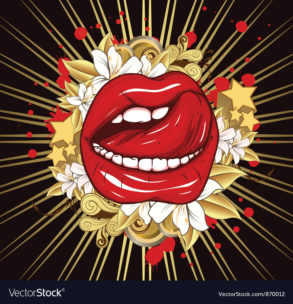 Mouth with ray vector | Price: 1 Credit (USD $1)