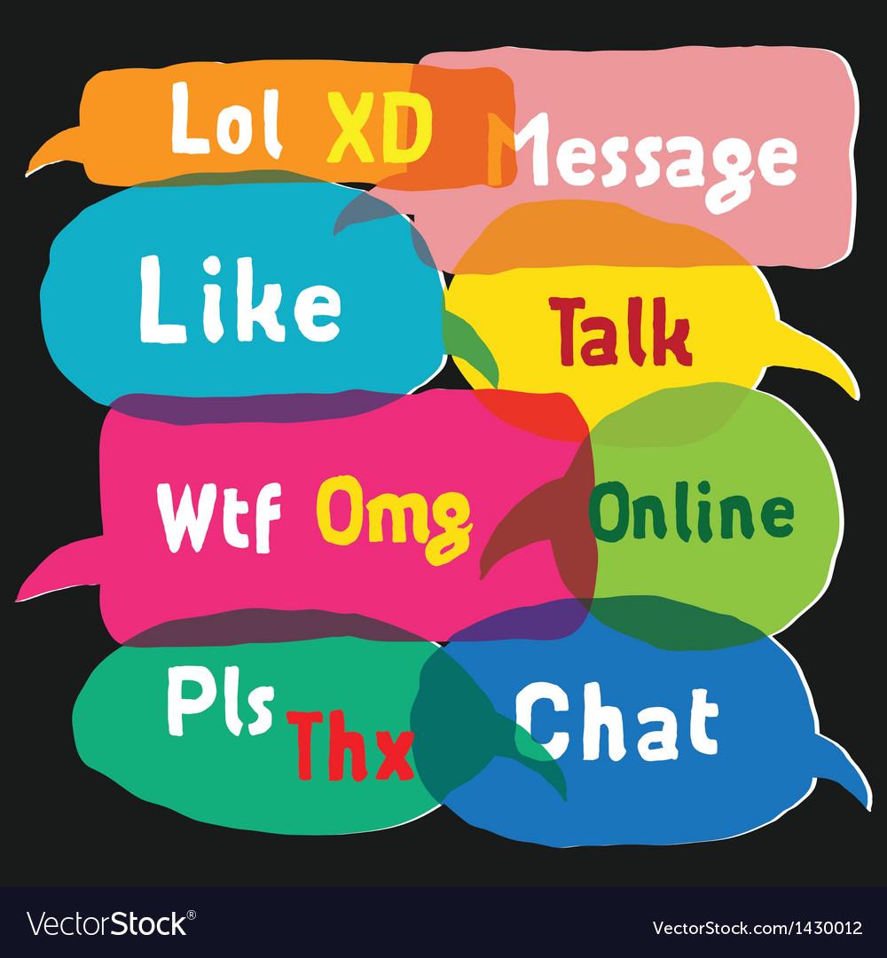 Multicolored speech bubbles vector | Price: 1 Credit (USD $1)