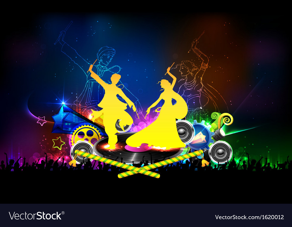 Poster for dandiya night vector | Price: 1 Credit (USD $1)