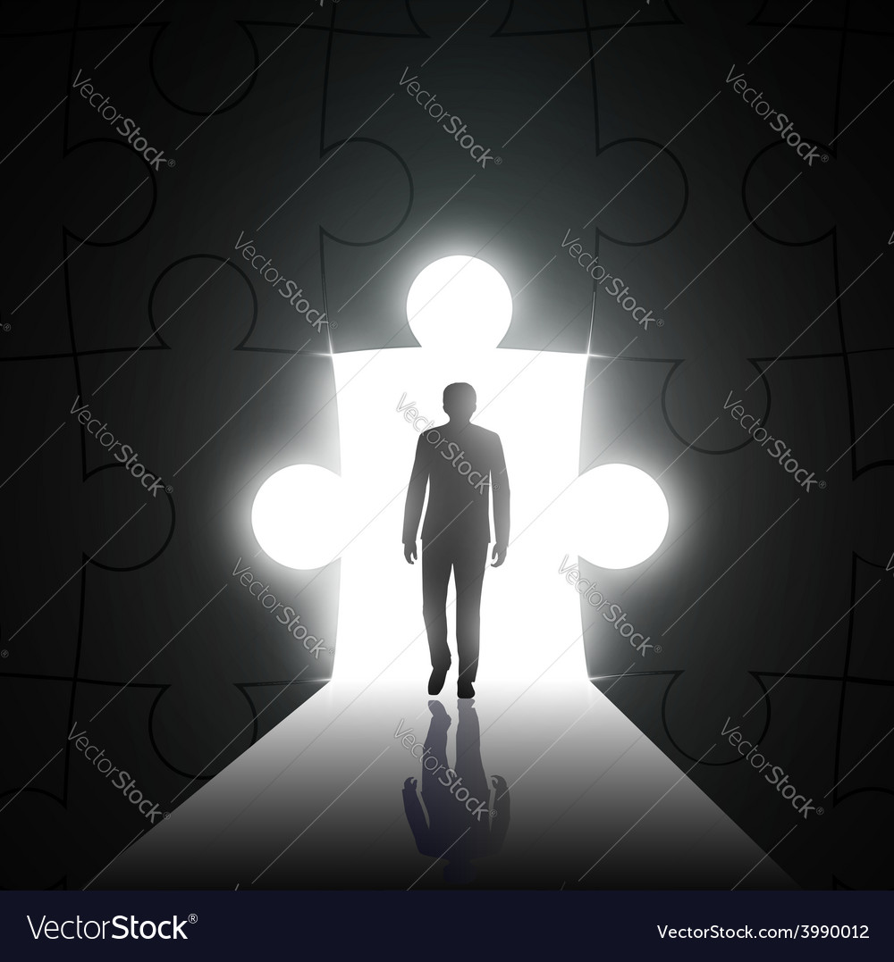 Silhouette of man on a background of the hole in vector | Price: 1 Credit (USD $1)