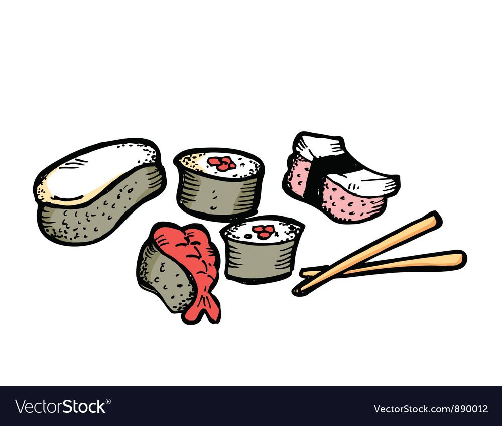 Sushi roll vector | Price: 1 Credit (USD $1)