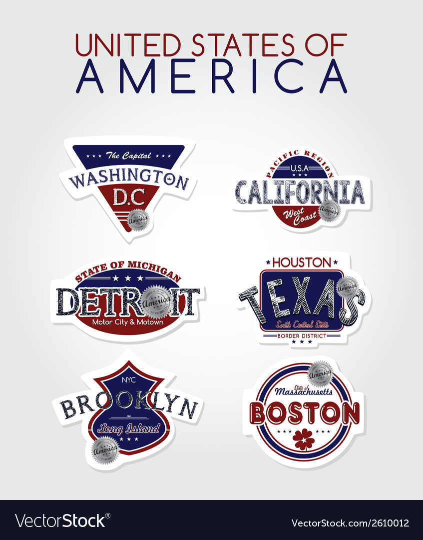 Us labels vector | Price: 1 Credit (USD $1)