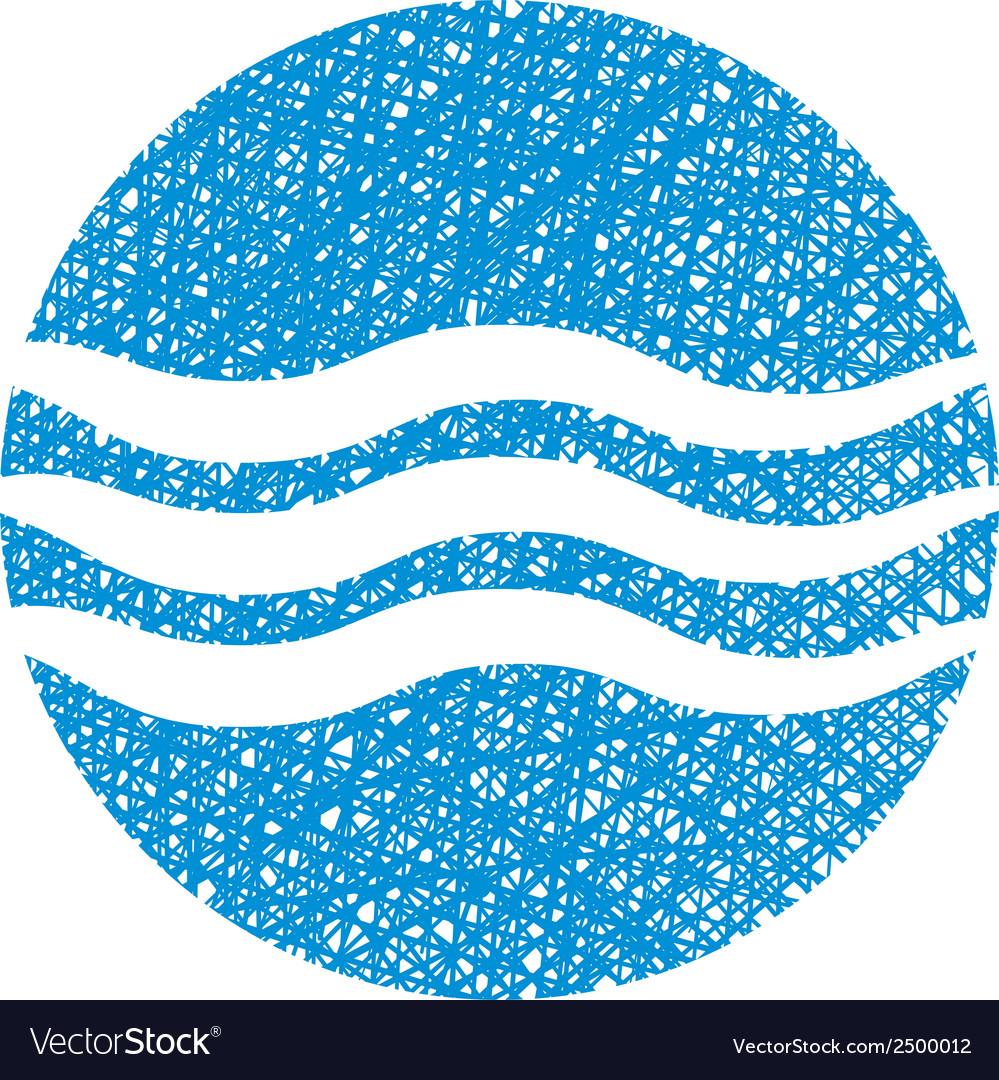 Wave water icon abstract icon symbol with hand vector | Price: 1 Credit (USD $1)