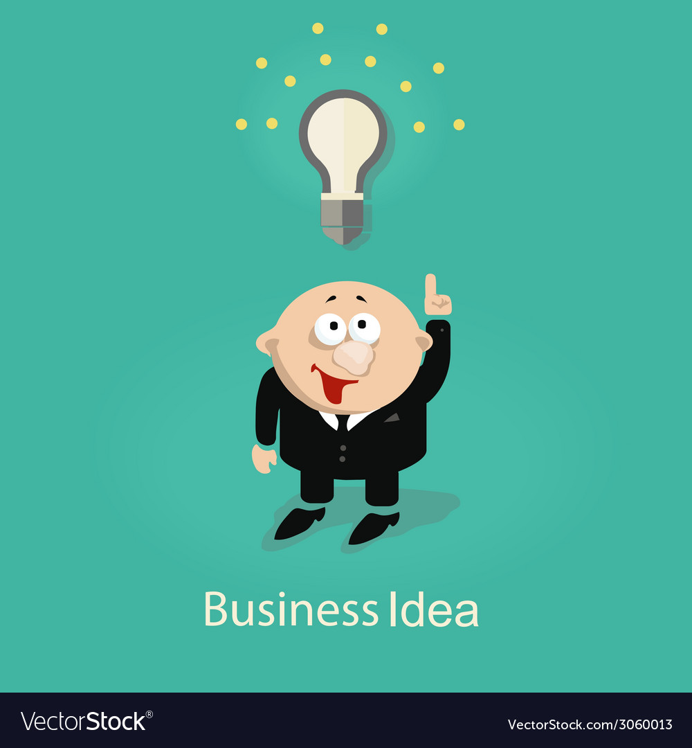 Businessman and idea vector | Price: 1 Credit (USD $1)