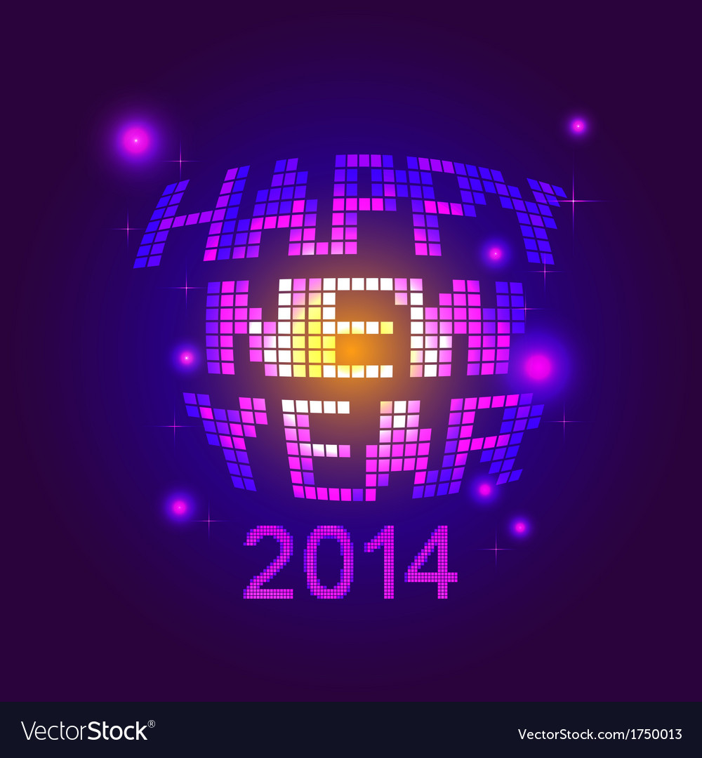 Happy new year party vector | Price: 1 Credit (USD $1)