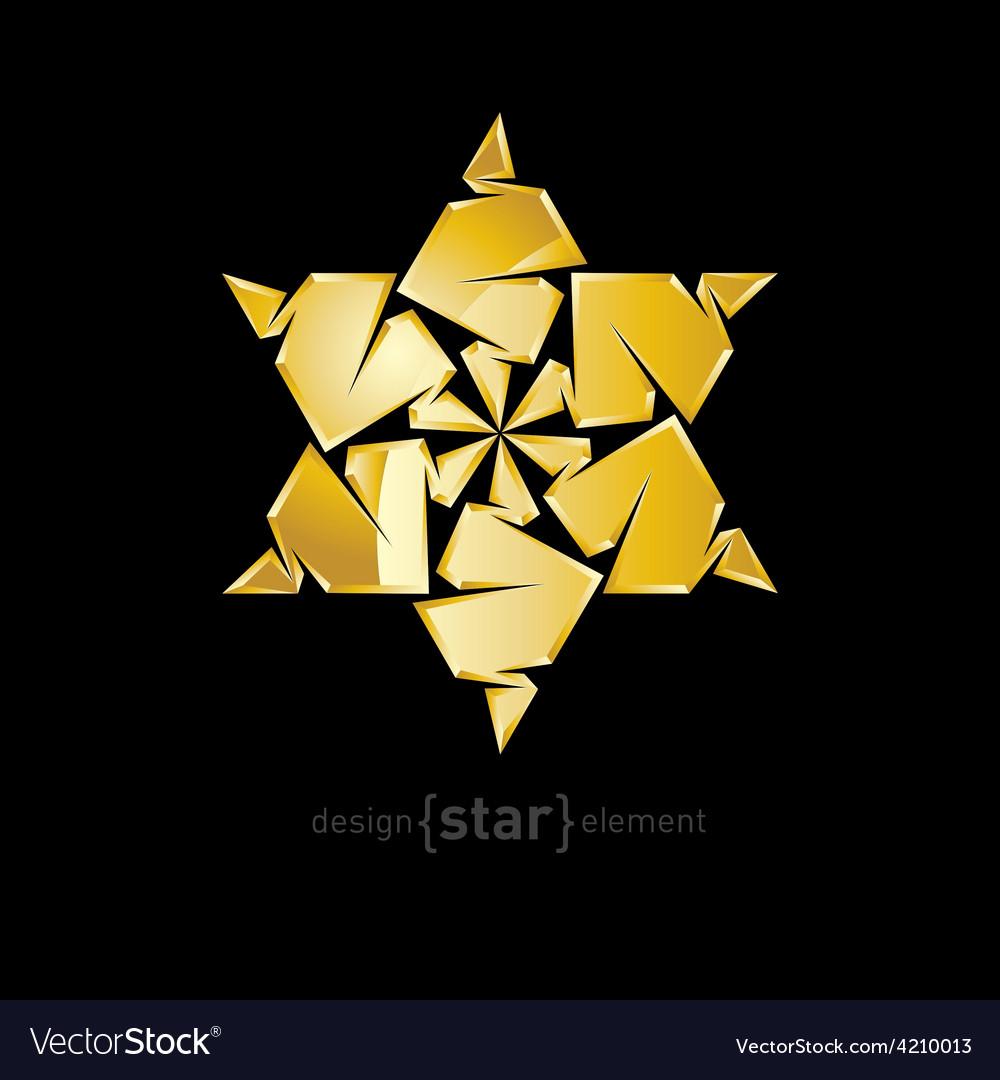 Luxury golden star on black background vector | Price: 1 Credit (USD $1)