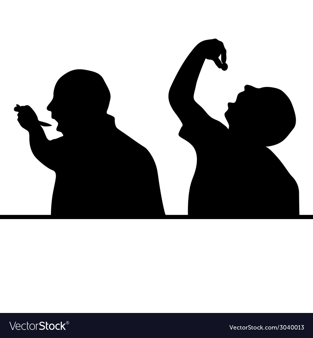 Man eat silhouette vector | Price: 1 Credit (USD $1)