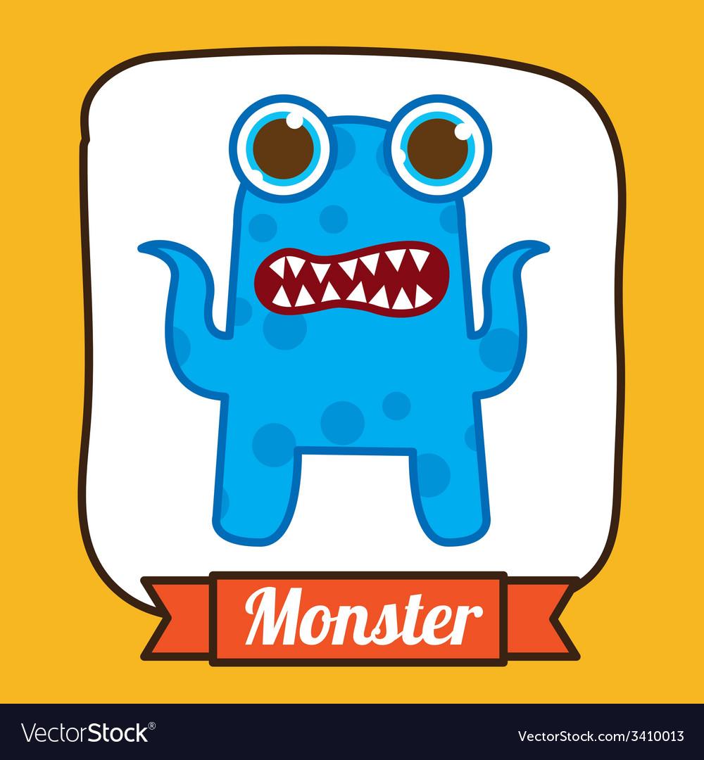 Monster design vector | Price: 1 Credit (USD $1)