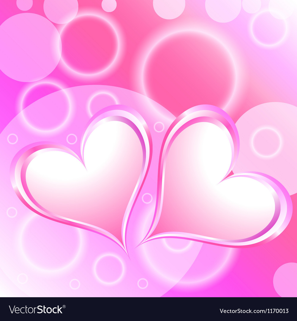 Pink heart shiny holiday background vector | Price: 1 Credit (USD $1)