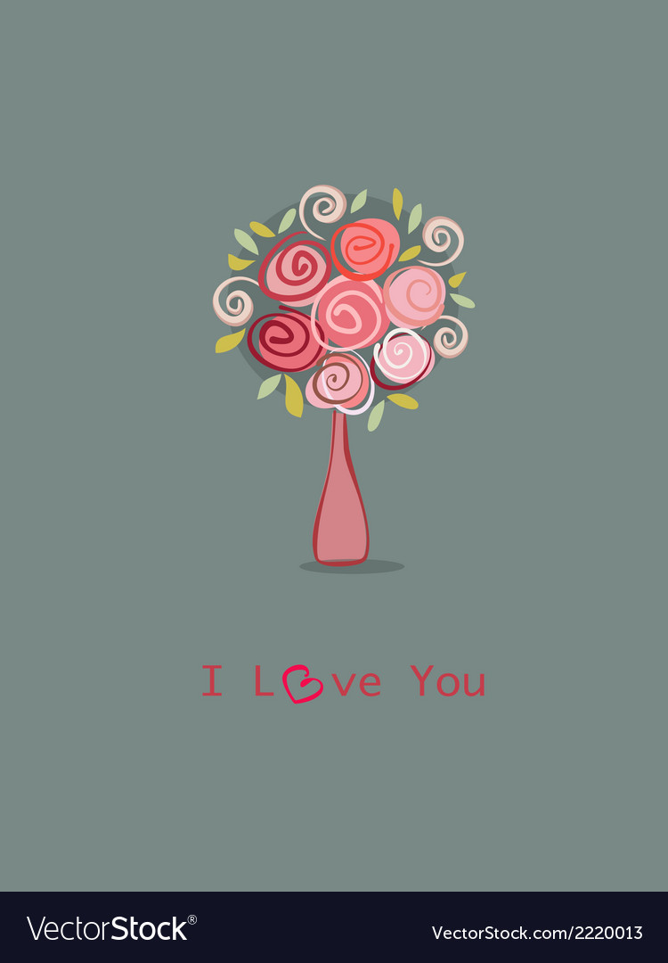Roses love you vector | Price: 1 Credit (USD $1)