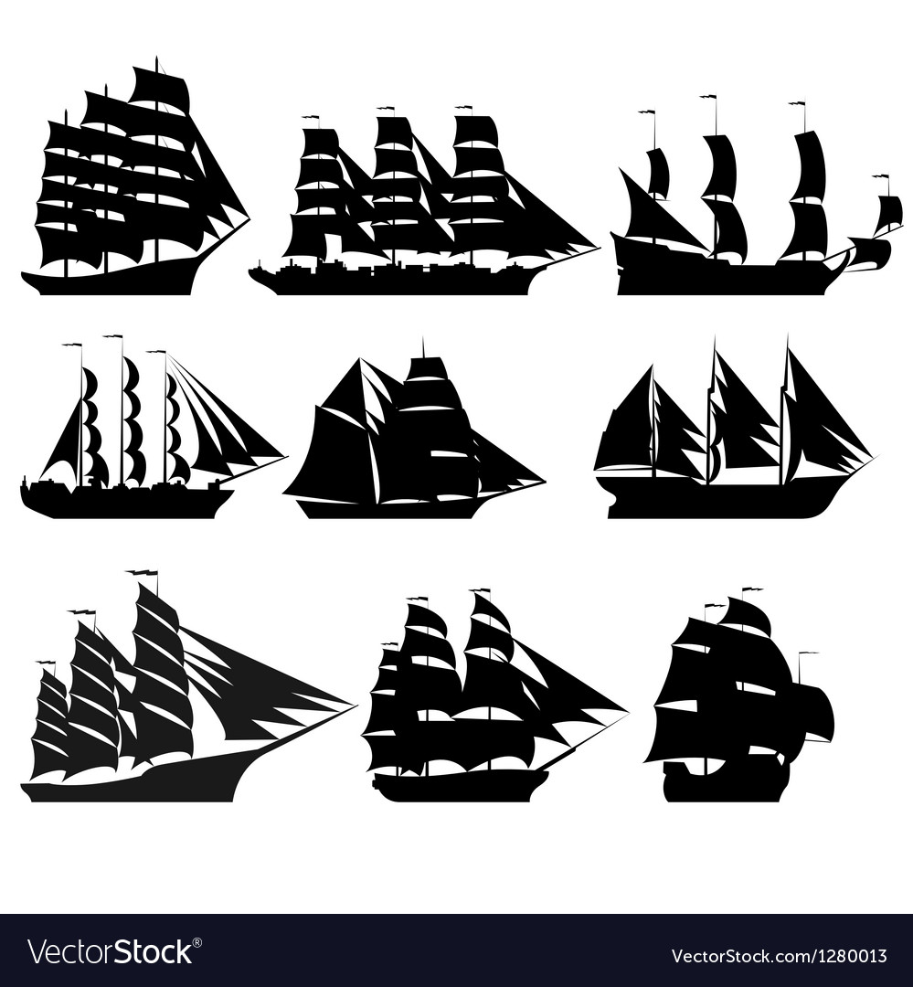 Sailing ships 1 vector | Price: 1 Credit (USD $1)