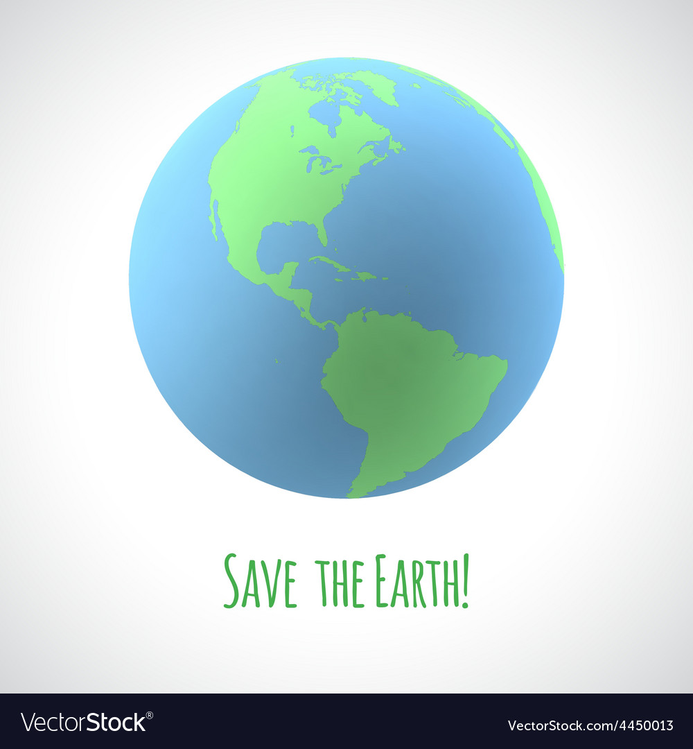 Save the earth poster vector | Price: 1 Credit (USD $1)