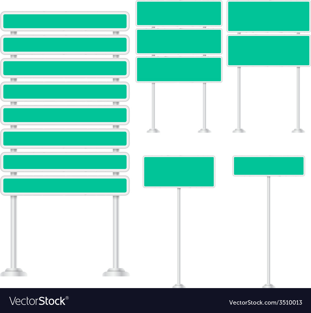Set of signpost vector | Price: 1 Credit (USD $1)