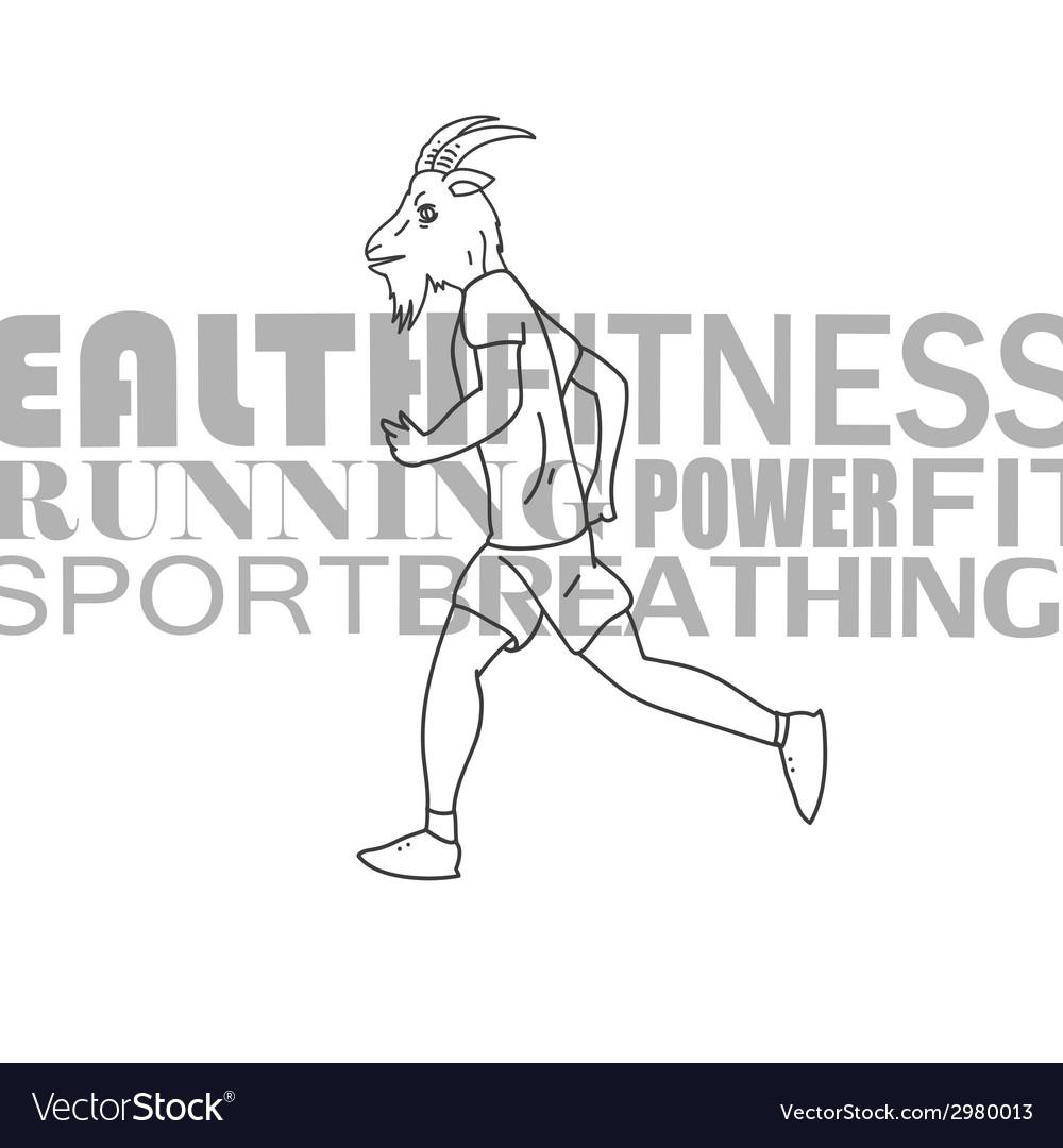 Sport man running vector | Price: 1 Credit (USD $1)