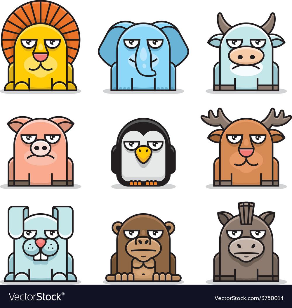 Animals set vector | Price: 1 Credit (USD $1)