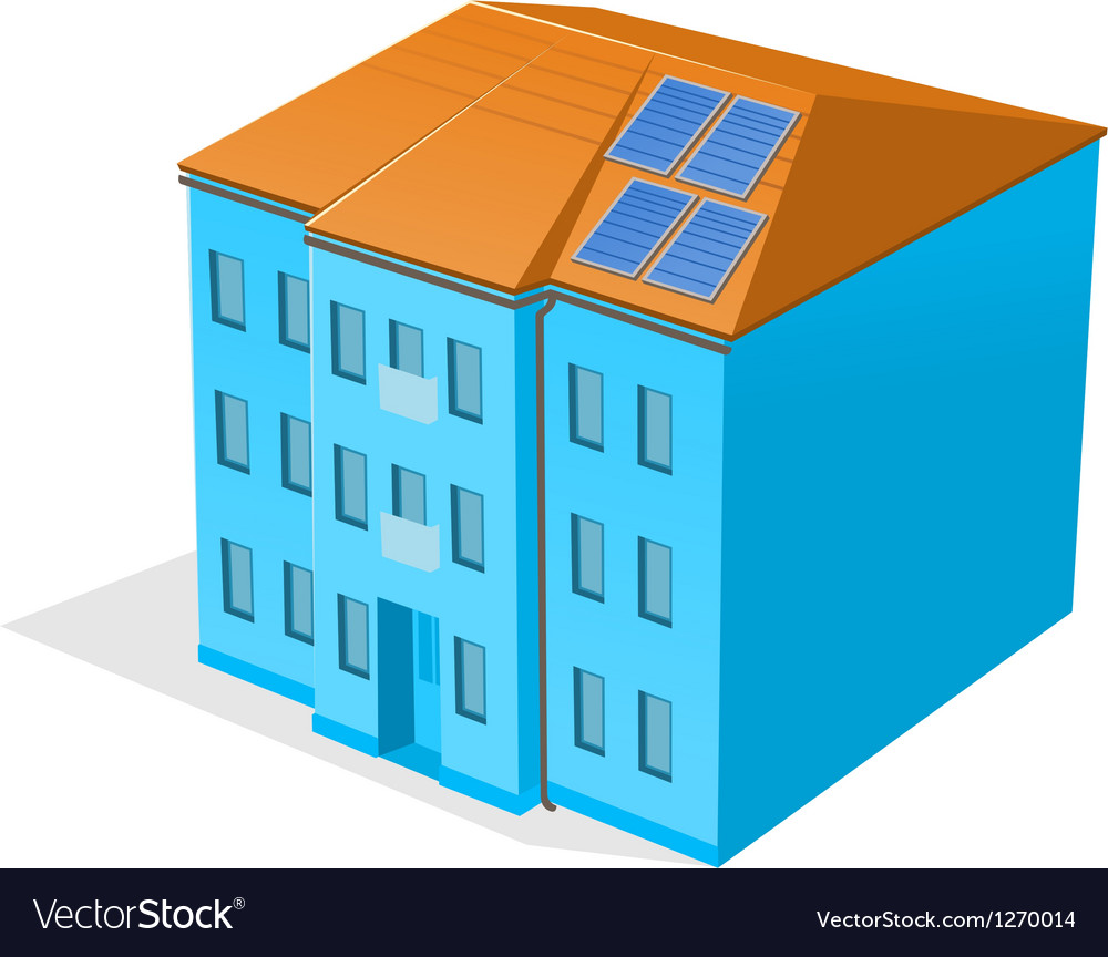 Apartment building vector | Price: 1 Credit (USD $1)