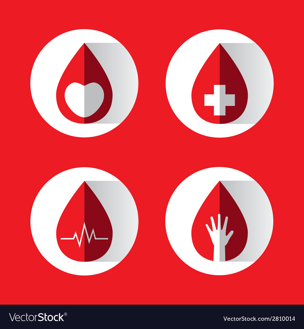 Blood drops set vector | Price: 1 Credit (USD $1)