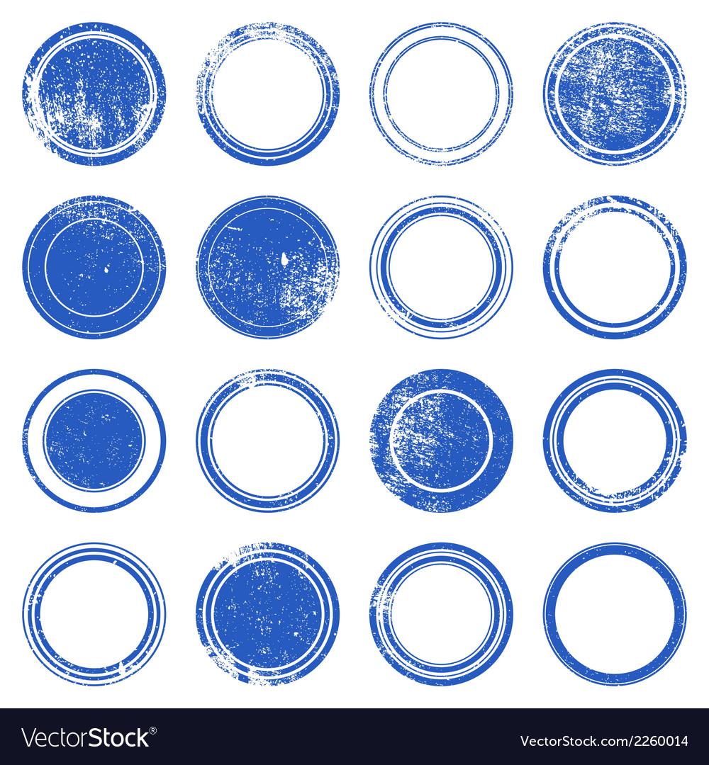 Blue ronded grunge stamp vector | Price: 1 Credit (USD $1)