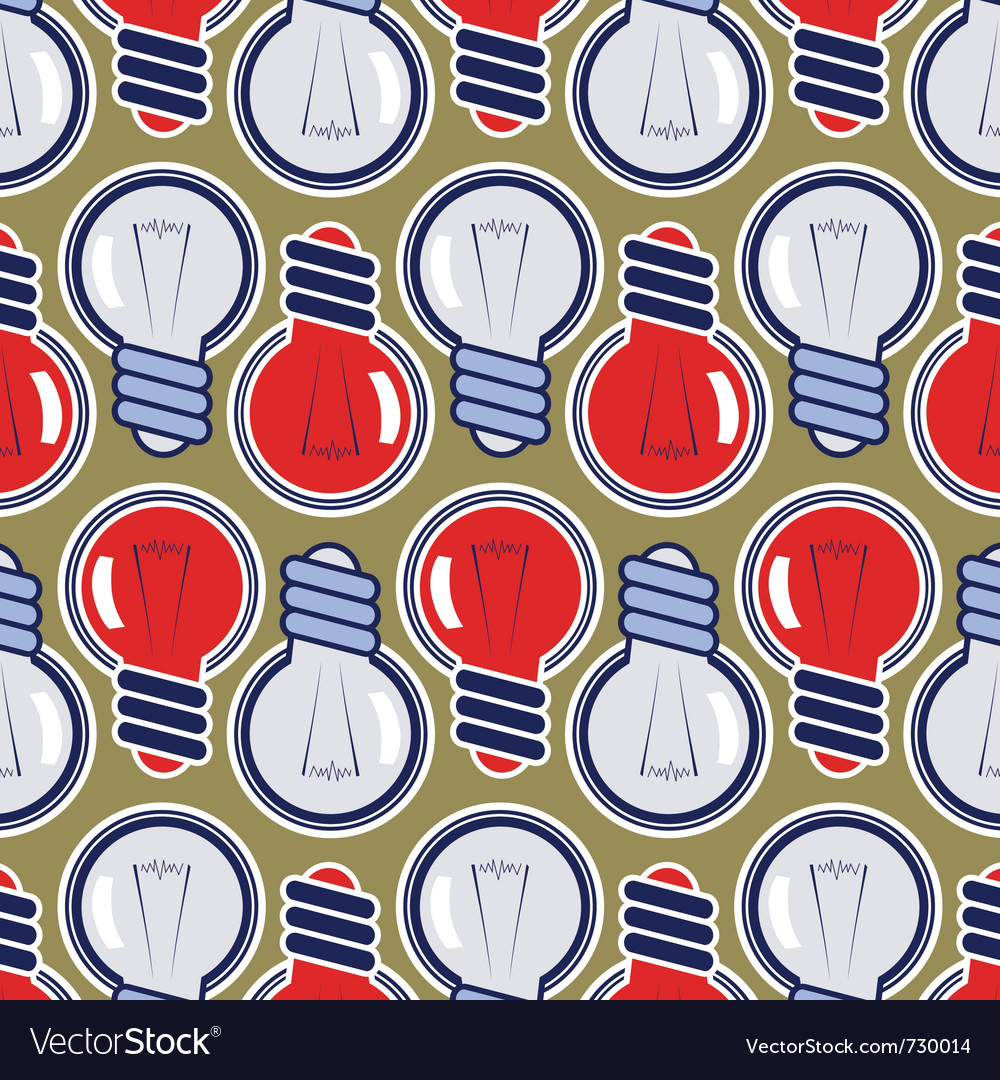 Bulb lamp background pattern vector | Price: 1 Credit (USD $1)
