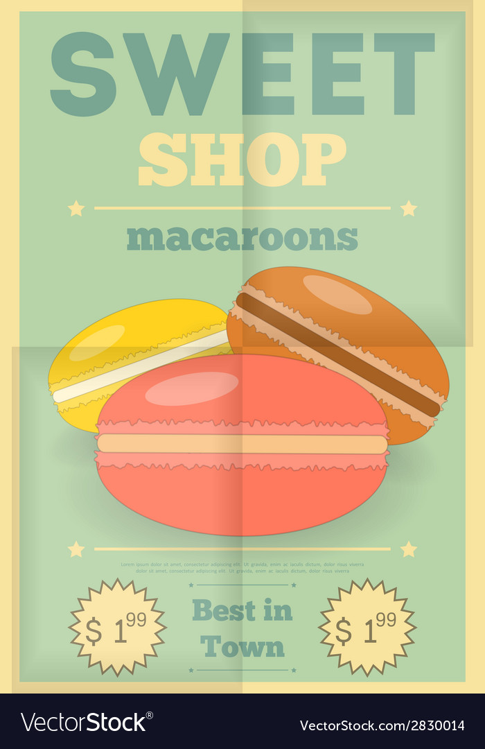 Candy shop macaroon vector | Price: 1 Credit (USD $1)
