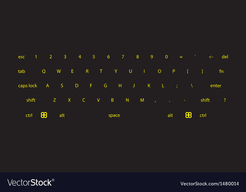 Dark keyboard vector | Price: 1 Credit (USD $1)