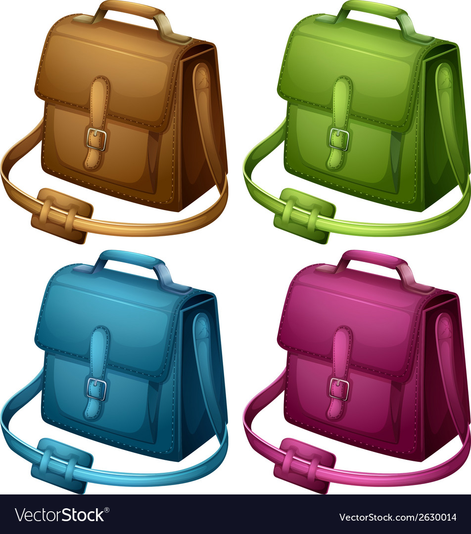 Four colourful bags vector | Price: 1 Credit (USD $1)
