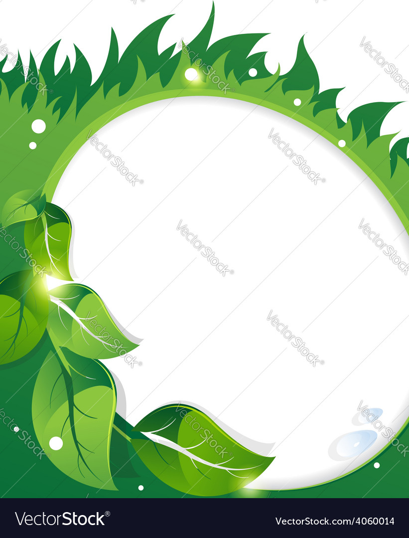 Green leaves and grass vector | Price: 1 Credit (USD $1)