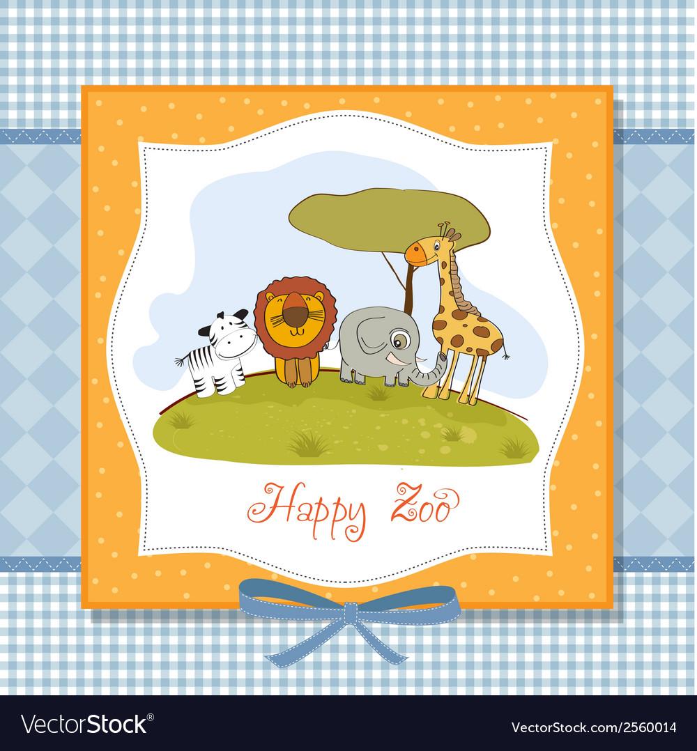 Happy zoo vector | Price: 1 Credit (USD $1)