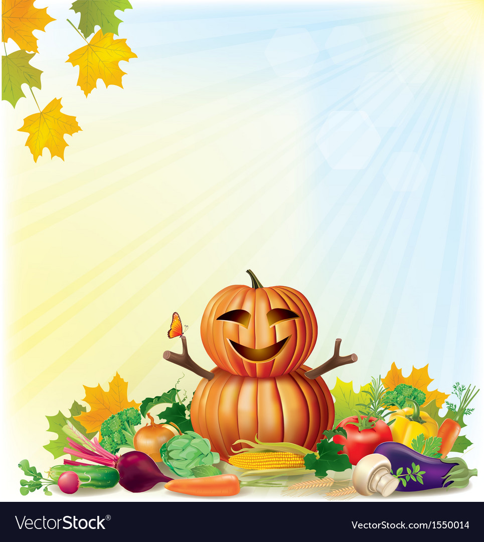 Harvest autumn background vector | Price: 1 Credit (USD $1)
