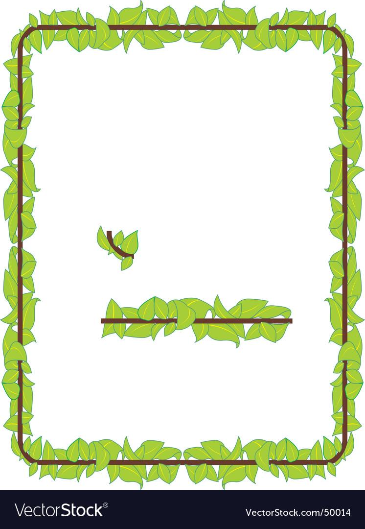 Leaf border vector | Price: 1 Credit (USD $1)