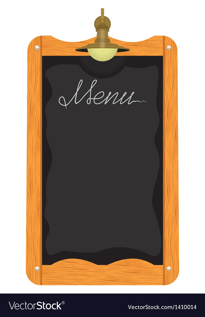 Menu board outside a restaurant or cafe vector | Price: 1 Credit (USD $1)
