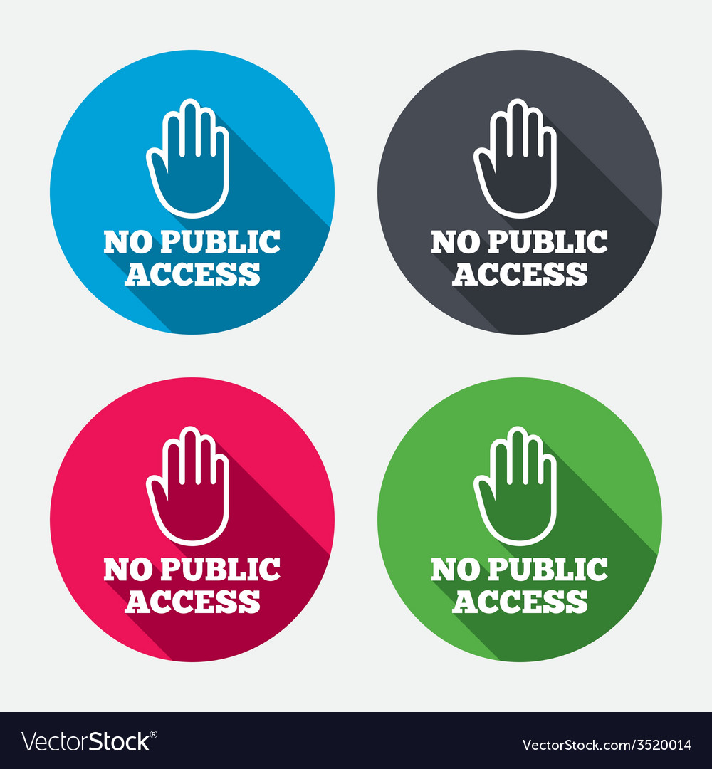 No public access sign icon caution stop symbol vector | Price: 1 Credit (USD $1)
