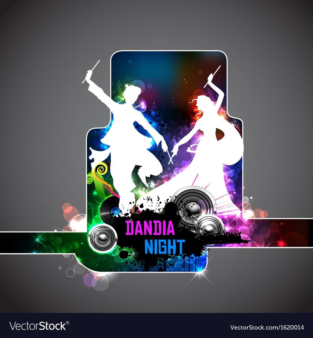 Poster for dandiya night vector | Price: 1 Credit (USD $1)